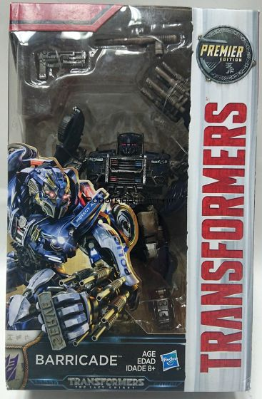 MISB Transformers Movie 5 - TRU Exclusive The Last Knight Premier Deluxe battle Damage Barricade. Very Limited Restock!