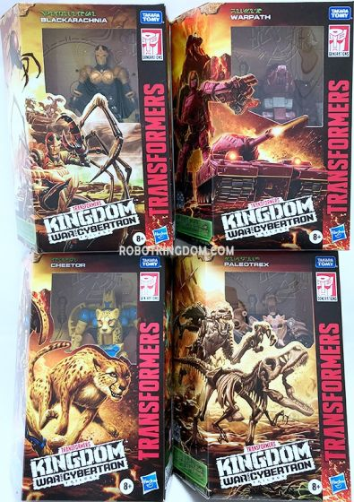 Transformers Generations Kingdom Deluxe Wave 1 Set of 4. (PALEOTREX, CHEETOR, WARPATH and BLACK ARACHNIA). Available Now!