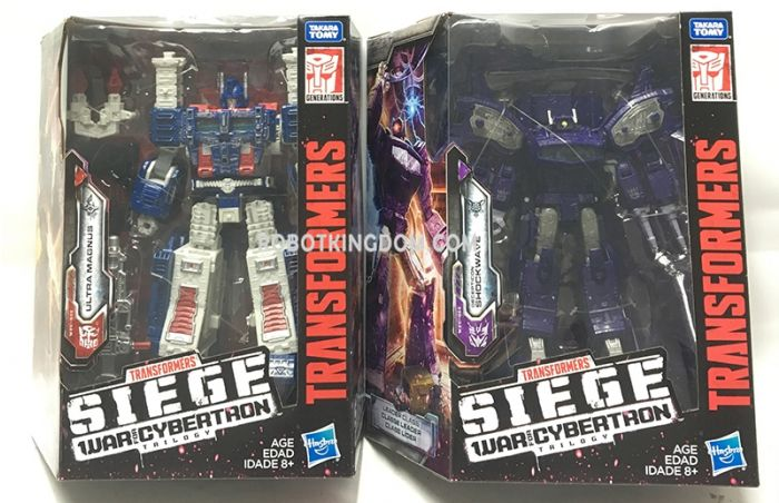 Generations 2019 Siege of cybertron Leader Wave 1 set of 2 (Ultra Magnus, Shockwave). Available Now!