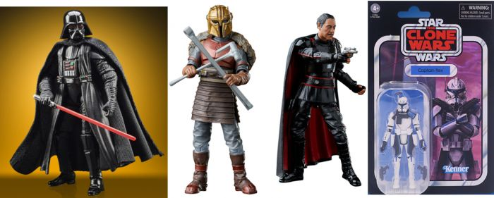 """Star Wars 3.75"""" Vintage Collection Assortment 2021 Wave 1 Case of 8. (Darth, Armorer, Captain Rex, Moffgideon & unknown x 2). Preorder. Available in January 2021."""