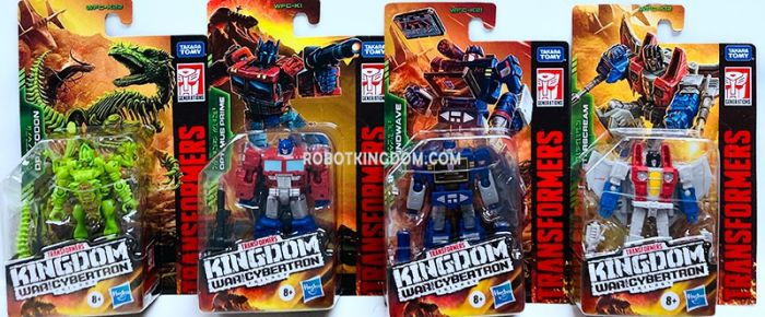 Transformers Generations Kingdom Core Case of 8 (Dracodon, Soundwave, Optimus Prime, Starscream). Available Now!