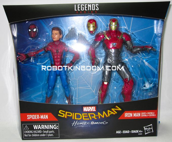 Marvel Legends Spiderman and Ironman Movie 2 Pack. Available Now!