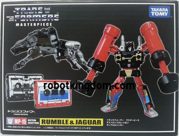 Takara Transformers Masterpiece MP-15 Masterpiece Rumble & Ravage Rerun with Exclusive Gift. Available Now!