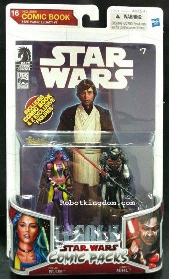 Hasbro Star Wars 2010 Comic Two-Packs Exclusive - Deliah Blue & Darth Nihl.