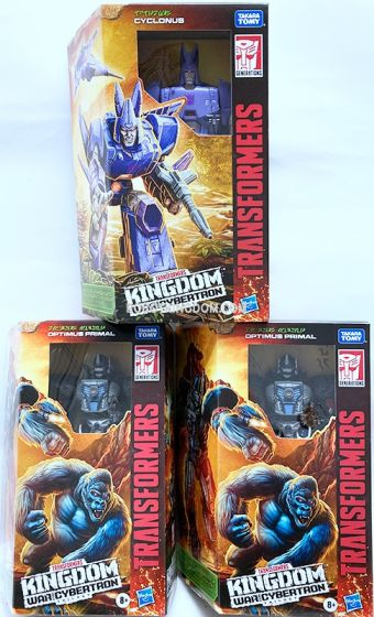 Transformers Generations Kingdom Voyager Wave 1 Case of 3 (OPTIMUS PRIMAL and CYCLONUS). Available Now!