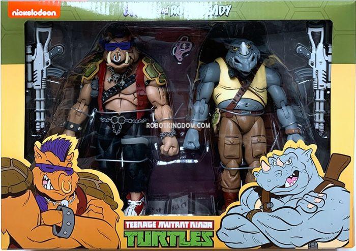 "NECA Teenage Mutant Ninja Turtles 7"" Cartoon Series 2 Rocksteady and Bebop 2 pack. Available Now!"