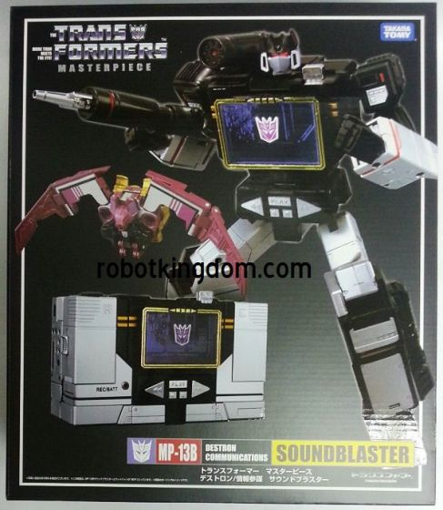 Takara Transformers Masterpiece MP-13B - Soundblaster with Ratbat with Exclusive Coin. Available Now!