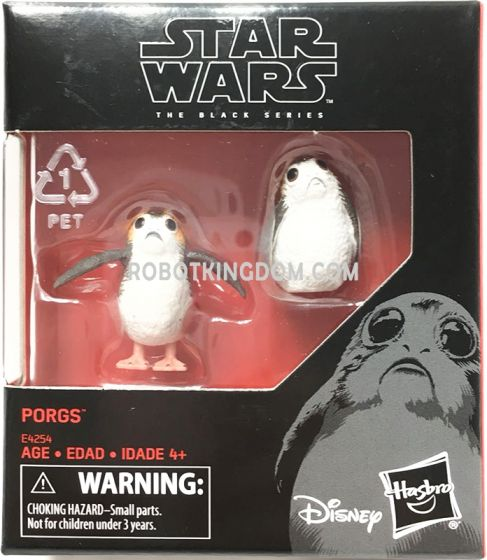 "Hasbro Star Wars The Black Series 6"" Last Jedi Porg 2-Pack. Available Now!"