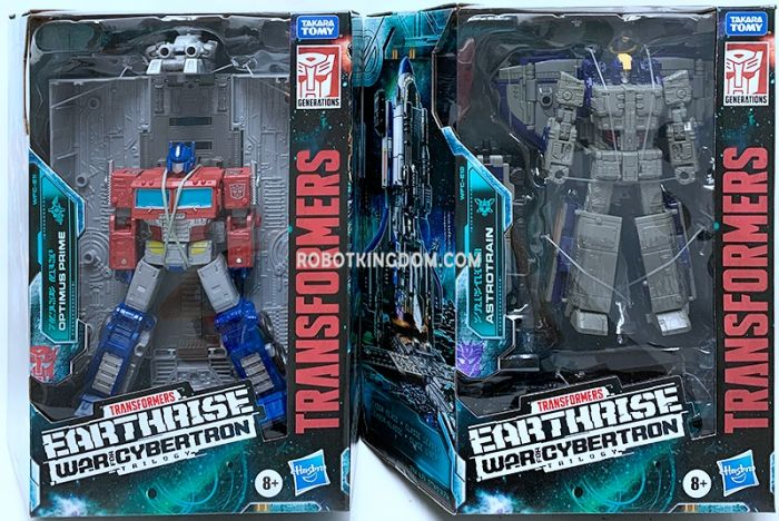 Transformers Generations Earthrise Leader set of 2 (ASTROTRAIN, OPTIMUS PRIME). Available Now!