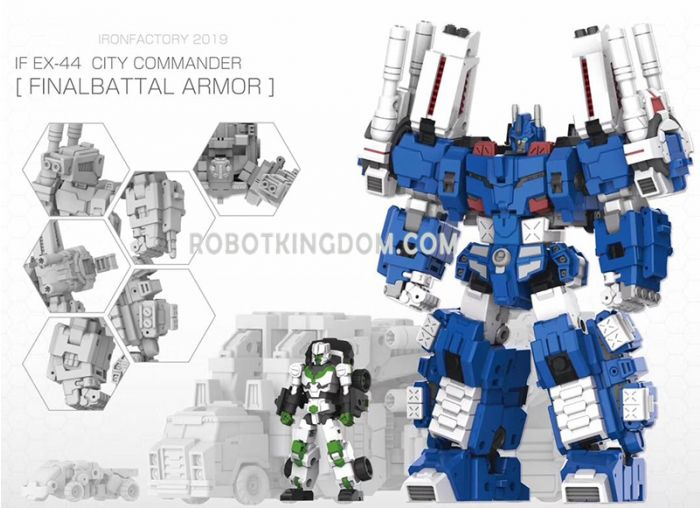 Iron Factory IF-EX44 City Commander Final Battle Armor. Preorder. Available in August 2020.