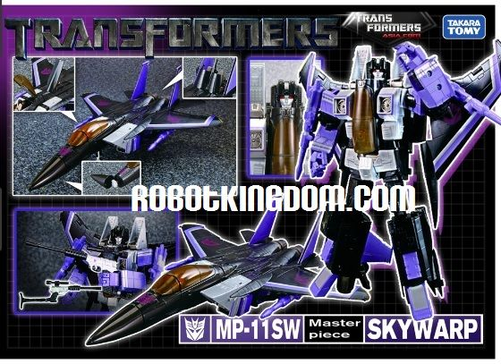 Takara Transformers Asia Exclusive Masterpiece MP-11SW Skywarp (Rerun) with an Exclusive coin. Available NOW!