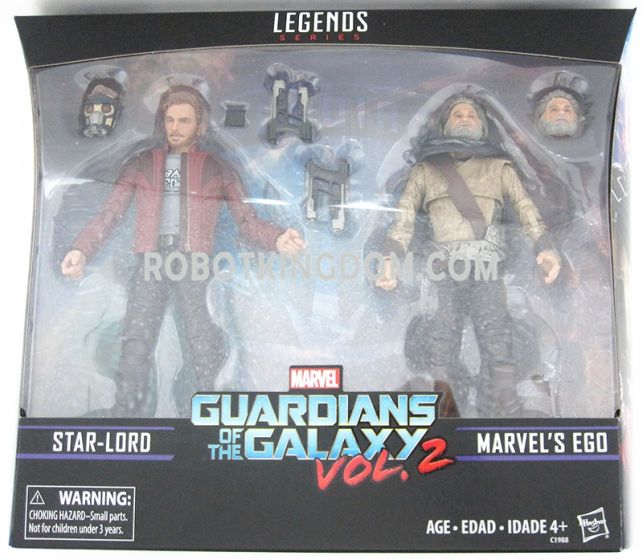 "Guardians of the Galaxy Vol.2 Marvel Legends Exclusive 6"" Star-Lord and Ego Action Figures 2-Pack. Available Now!"