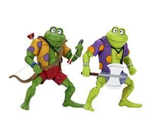 "NECA Teenage Mutant Ninja Turtles (Cartoon) – 7"" Scale Action Figure –Genghis & Rasputin Frog  2 pack."