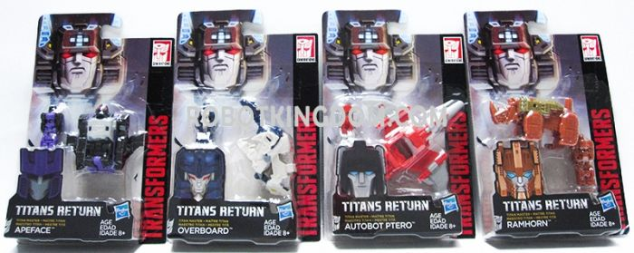 Generations 2017 Titans Return Titan Master Wave 3 Set of 4. (APEFACE, OVERBOARD, AUTOBOT PTERO, RAMHORN). Available Now! Last few pcs!