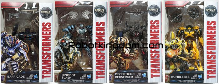 Transformers Movie 5 - The Last Knight Premier Deluxe Wave 1 Set of 4. Available Now!