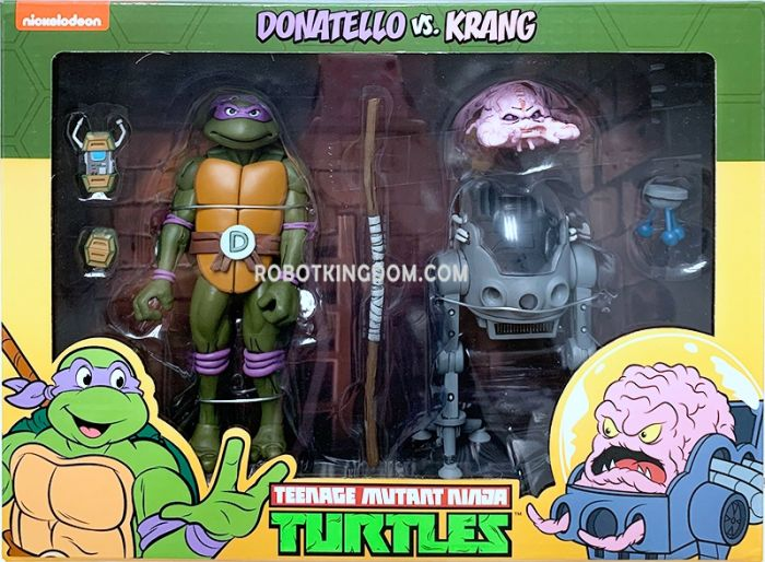 "NECA Teenage Mutant Ninja Turtles 7"" Cartoon Donatello vs Krang in Bubble Walker 2 Pack. Available Now!"