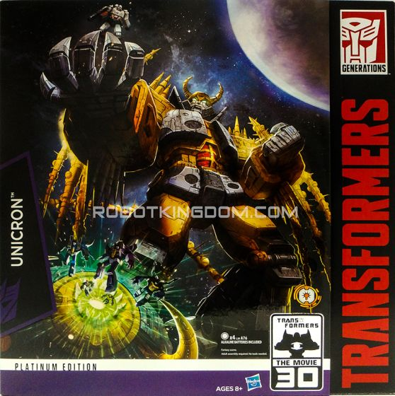 Hasbro Transformers Platinum Edition Unicron. Available NOW!