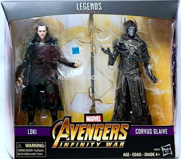 "Exclusive MARVEL LEGENDS AVENGERS: INFINITY WAR 6"" Loki VS Corvus Glaive 2-PACK. Available Now!"
