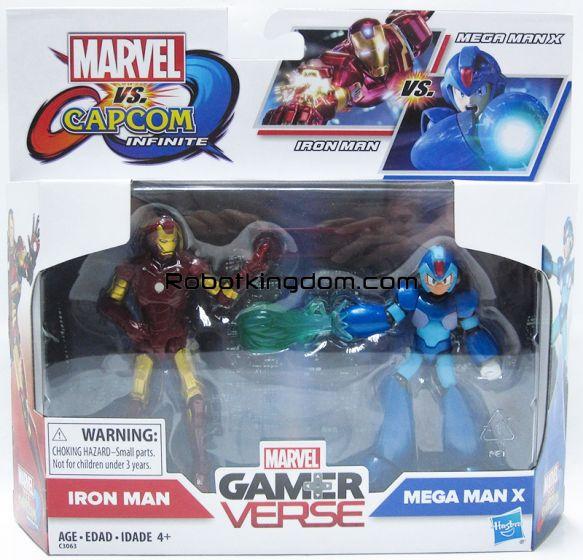 "Marvel Legends Target Exclusive 3.75"" Ironman vs Capcom Mega Man 2 Pack. Available Now!"