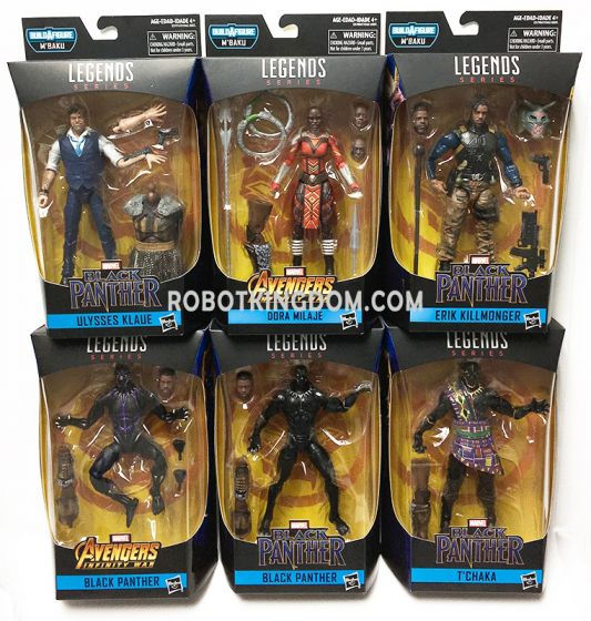 Hasbro Marvel Legends Black Panther 6'' Case of 8. Available Now!