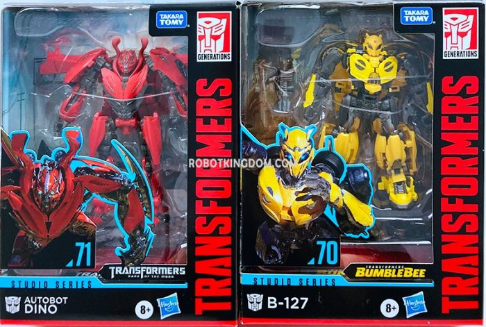 Hasbro Transformers Studio Series DELUXE 70 Bumblebee and 71 Dino Set of 2. Available Now!
