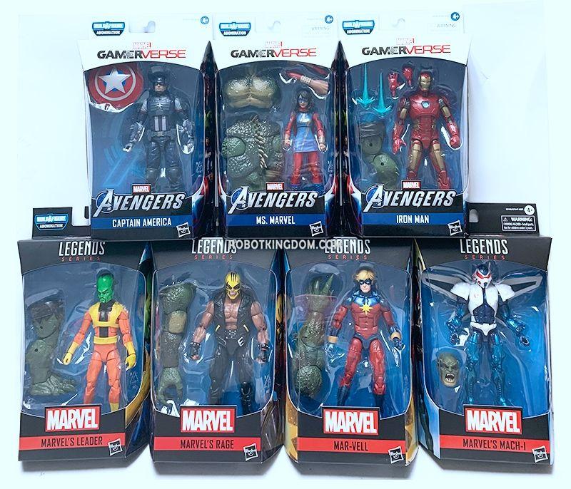 Marvel Legends Captain Mar-Vell Gamerverse Avengers from Abomination BAF wave