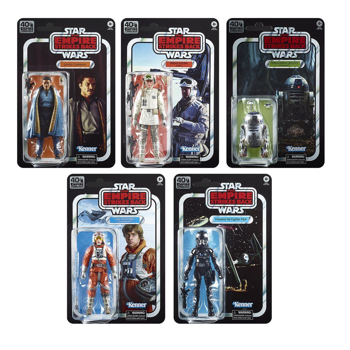 Star Wars Black Series 40th Wave 2 R2-D2 Luke Skywalker Lando Hoth Tie Fighter