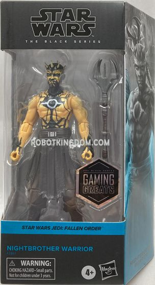 """Exclusive STAR WARS THE BLACK SERIES GAMING GREATS 6"""" NIGHTBROTHER WARRIOR Figure. Available Now!"""