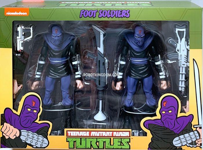 """NECA Teenage Mutant Ninja Turtles 7"""" Cartoon Series 2 Foot Soldier """"Army Builder"""" 2 pack. Available Now!"""