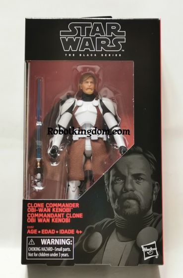 Exclusive Star Wars Black Series Clone Commander Obi-Wan Kenobi. Available NOW !