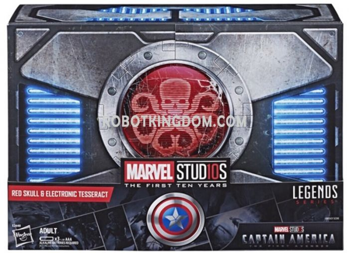 SDCC 2018 Marvel Legends Series Red Skull Figure & Electronic Tesseract. Start Shipping Now!