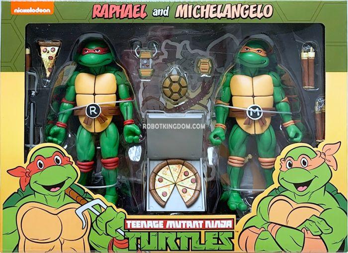 "NECA Teenage Mutant Ninja Turtles 7"" Cartoon Series 2 Michelangelo and Raphael 2 pack. Available Now!"
