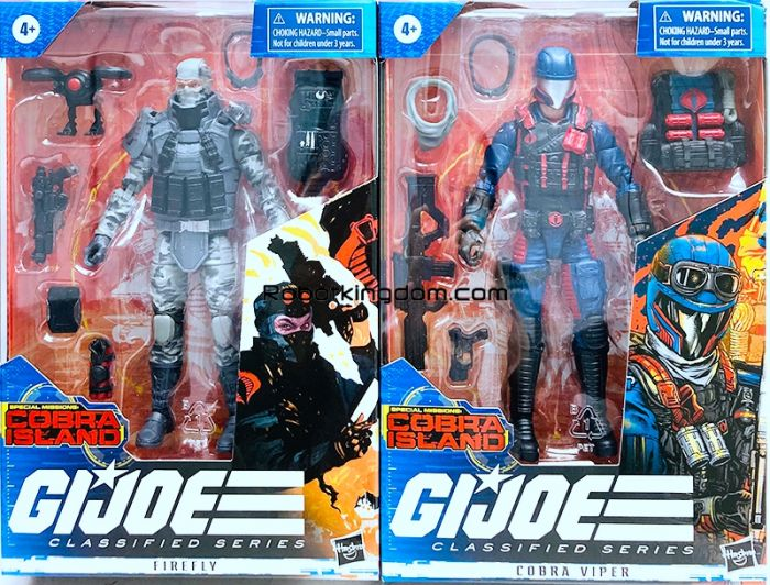 G.I. Joe Classified Series 6-Inch THEMED Figures set of 2 (Firefly and Cobra Viper). Last set! Available Now!