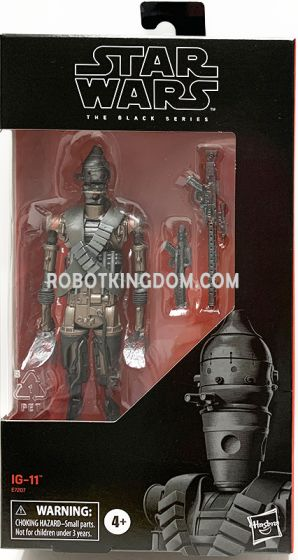 """Exclusives Star Wars Black Series 6"""" The Mandalorian IG-11. Available Now!"""