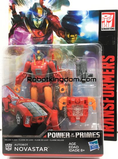 Transformers Generations Power of the Primes Deluxe Autobot Novastar. Available Now!