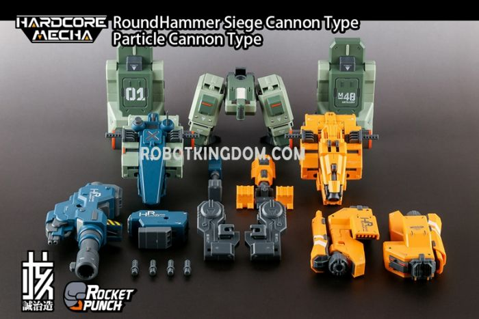 Earnest Core Hard Core Mecha Round Hammer Siege Cannon type/Particle Cannon type. Preorder. Available in 3rd Quarter 2020.