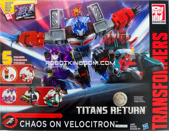 Transformers TRU Exclusive CHAOS ON VELOCITRON. Restock. Available Now! Last pcs!