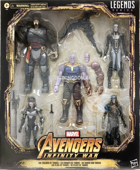 """Exclusive Marvel Legends Avengers Infinity War 6"""" THE CHILDREN OF THANOS 5 Pack. Available Now!"""
