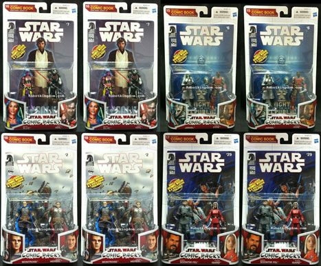 Hasbro Star Wars 2010 Comic Two-Packs Exclusive - Sealed Case of 8.