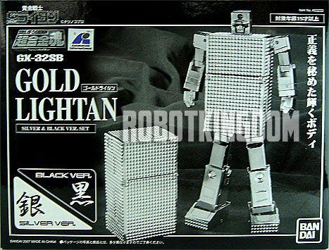 Bandai Soul of Chogokin SOC GX-32SB Exclusive Lightan Set (Silver & Black).