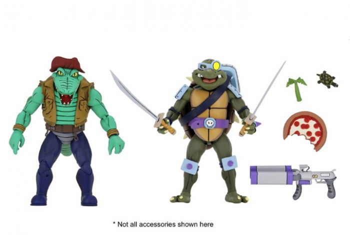"""Neca Teenage Mutant Ninja Turtles – 7"""" Scale Action Figures - Cartoon Series 3 Leather Head and Slash 2-pack. Preorder. Available in 2nd Quarter 2020."""