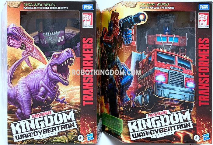 Transformers Generations Kingdom Leader Wave 1 Case of 2. (LEADER TREX MEGATRON and Optimus Prime). Available Now!