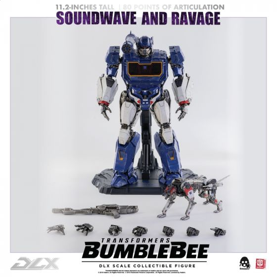 Threezero Transformers Bumblebee - DLX Soundwave and Ravage. Preorder. Available in 3rd Quarter 2020.