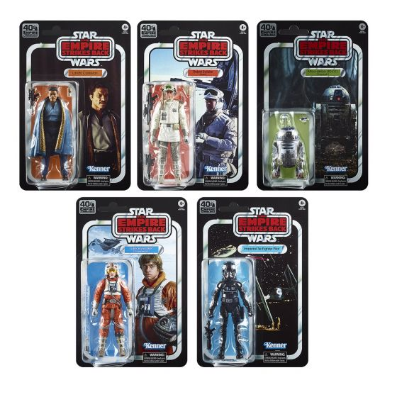"Star Wars E5 40th Anniversary 6"" FIGURES AST 2020 Wave 2 Case of 5 (HOTH REBEL SOLDIER, LANDO CALRISIAN, TIE PILOT, LUKE SKYWALKER SNOW, R2D2) Preorder. Start Shipping on 1st August 2020."