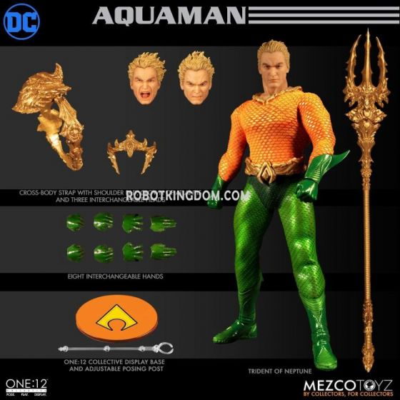 MEZCO TOYZ DC Comics One:12 Collective Aquaman. Preorder. Available in 2nd Quarter 2020.