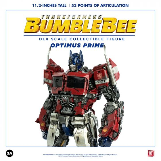Hasbro x ThreeA : Transformers BUMBLEBEE Deluxe Scale Collectible Figure Deluxe Optimus Prime. Preorder. Available in 1st Quarter 2020.