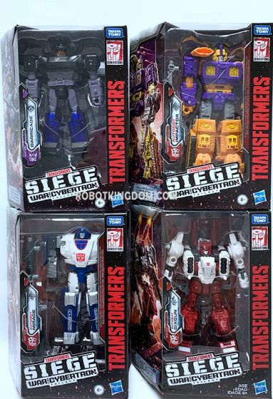 Generations 2019 Siege of cybertron Deluxe Wave 4 set of 4 (Sixgun, Mirage, Impactor, Unknown Character). Available Now!