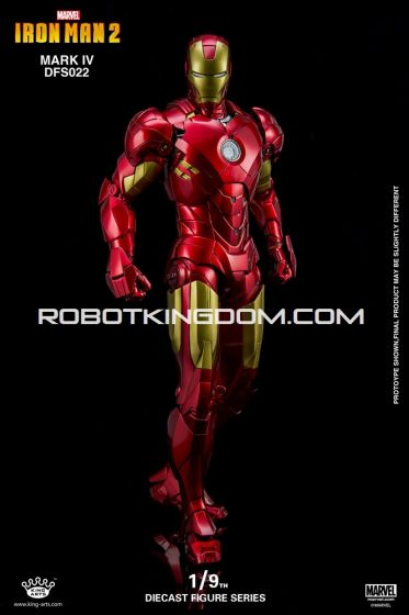 King Arts - 1/9 Diecast Figure Series -DFS022- Iron Man Mark 4. Available Now!
