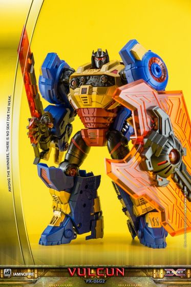 TFCon Exclusives Planet X PX-06G2 Vulcun. Limited to 300pcs worldwide. Available Now!