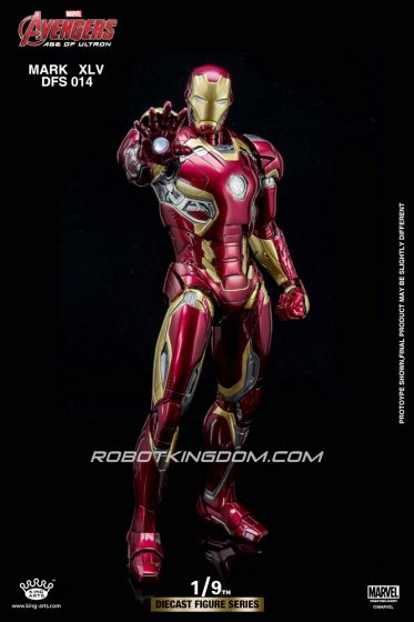 King Arts - Avenegers Age of Ultron: 1/9 Scale Iron Man Mark 45 Armor Figure. Available Now!